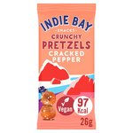 Indie Bay Snacks Quinoa Pretzel Bites with Cracked Pepper