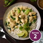 Qookit Thai Green Chicken Curry & Rice with Vegetables Recipe Kit