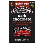 Eat Natural Dark Chocolate with Cranberries & Macadamias Bars Multipack
