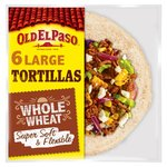 Old El Paso Super Soft Wholewheat Tortillas x6