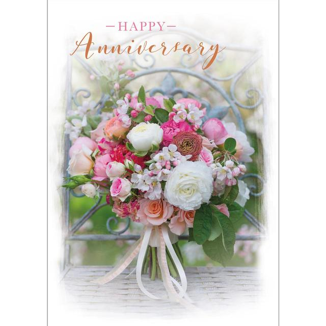 Floral Bouquet Anniversary Card from Ocado