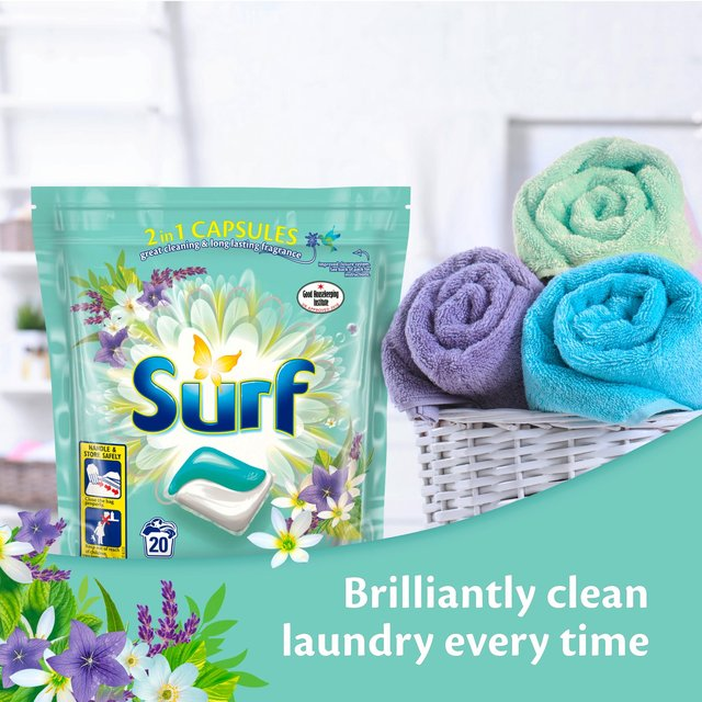 Surf Herbal Extracts Washing Capsules Wash Ocado