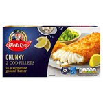 Birds Eye 2 Chunky Cod Fillets in a Signature Golden Batter Frozen