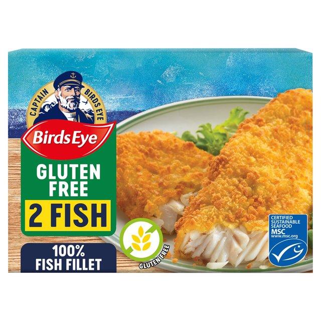 Birds Eye 2 Gluten Free Breaded Fish Fillets Frozen 250g