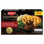 Birds Eye Inspirations 2 Steak & Ale Pies with a Diced Potato Top Frozen