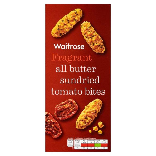Waitrose All Butter Sundried Tomato Bites 100g from Ocado