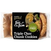 Ocado Gold Free From Triple Choc Chunk Cookies
