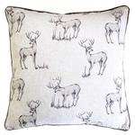 Stag Feather Filled Cushion
