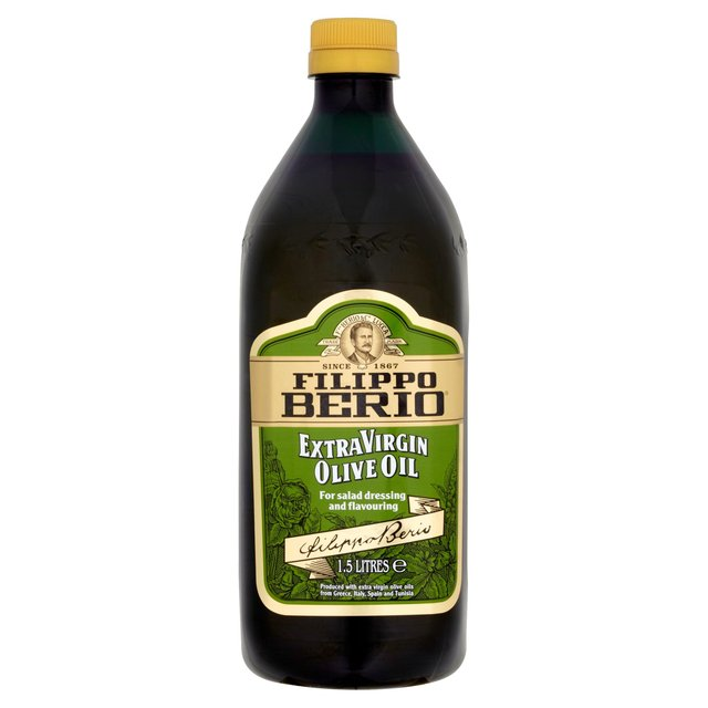 Extra Virgin Olive Oil Filippo Berio Extra Virgin Olive Oil brings a well-balanced, yet rich taste to your dishes. Made from cold pressing the finest olives, this aromatic olive oil has a deep greenish-gold color.