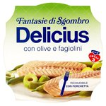 Delicius Mackerel Fillets with Olives & Greenbeans in Olive Oil