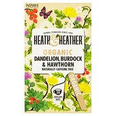 Heath & Heather Organic Dandelion, Burdock & Hawthorne Tea Bags