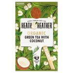 Heath & Heather Organic Green Tea & Coconut Tea Bags