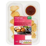 Waitrose British Chicken Breast Chunks in Batter with BBQ Dip