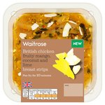 Waitrose British Chicken Mango Coconut & Lime Breast Strips