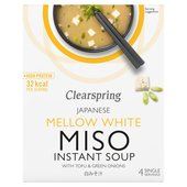 Clearspring Mellow White Miso Soup with Tofu & Green Onions
