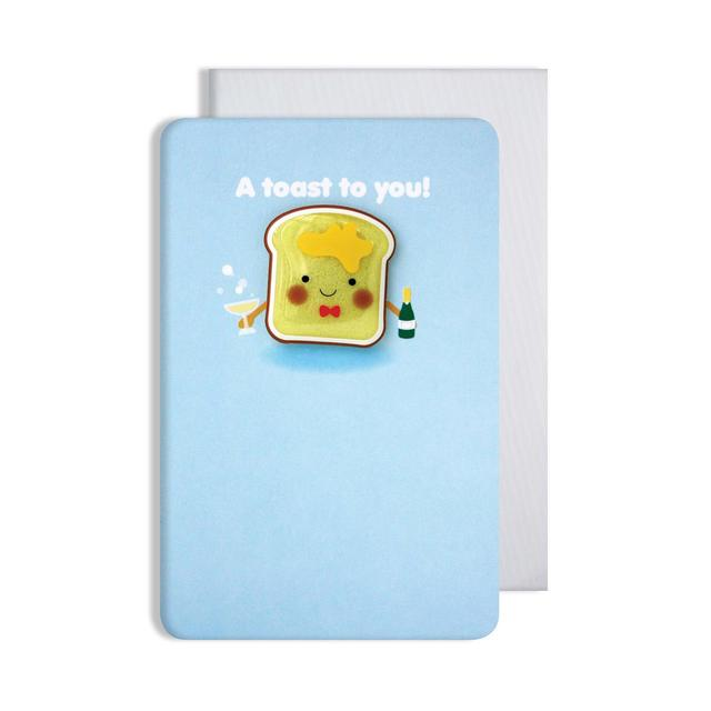Toast Card with Jelly Magnet