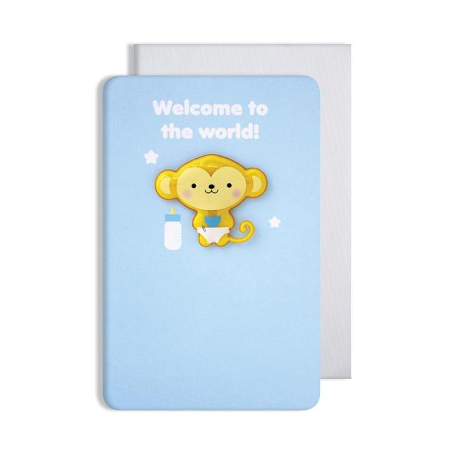 baby boy card with magnet from ocado