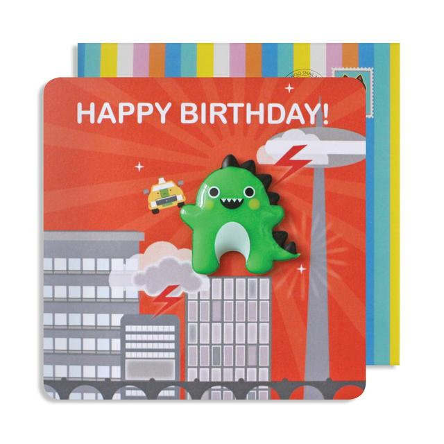 Dinosaur Birthday Card with Jelly Magnet