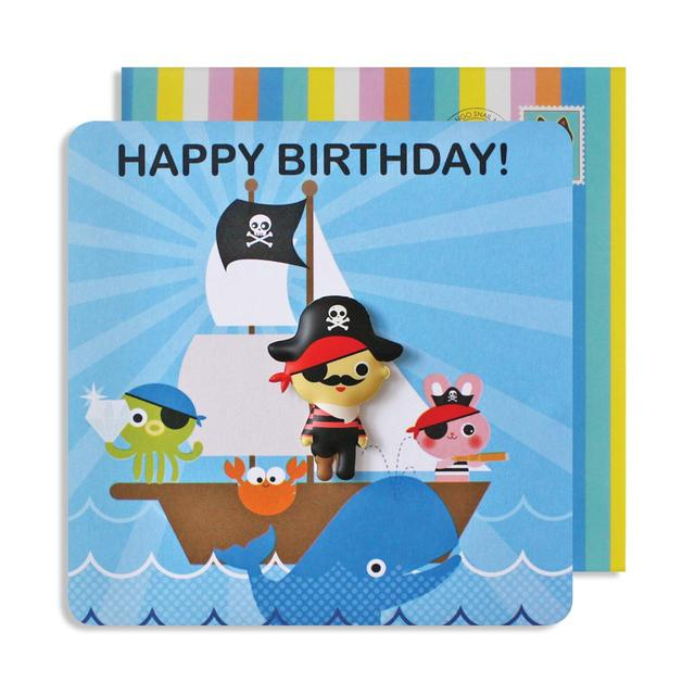 Pirate Birthday Card With Jelly Magnet From Ocado