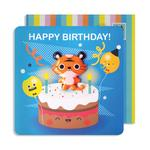 Tiger Birthday Card with Jelly Magnet