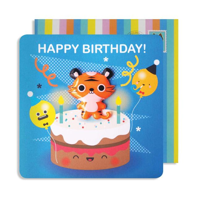 Tiger Birthday Card With Jelly Magnet From Ocado