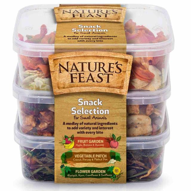 Nature's Feast Small Animal Natural Snack Pots, 3 per pack