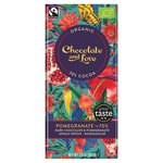 Chocolate and Love Fairtrade Organic Pomergrante 70% Dark Chocolate
