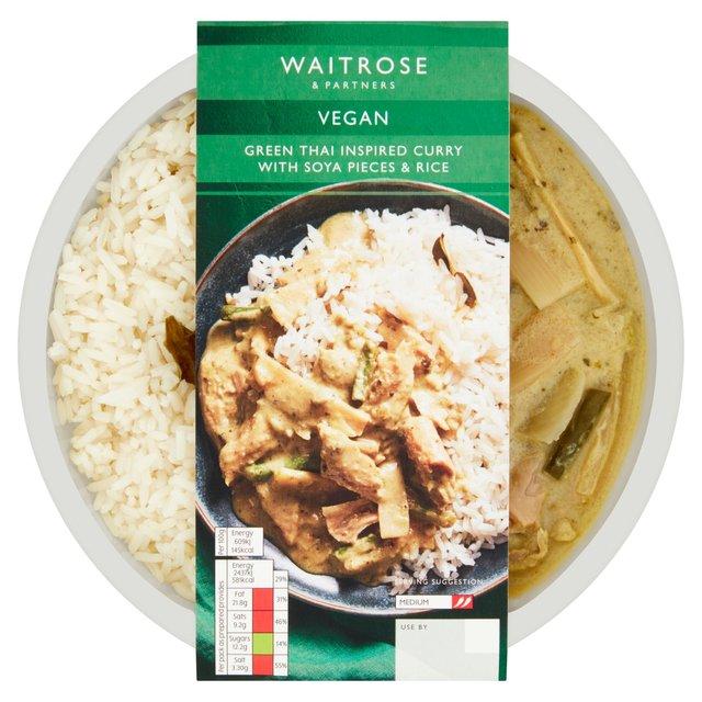 Waitrose Vegan Thai Green Curry Rice Ocado