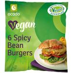 Ocado 6 Vegan Spicy Bean Burgers