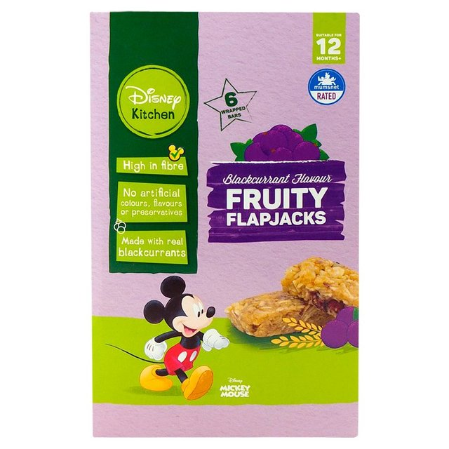 Disney Kitchen Blackcurrant Fruity Flapjacks