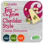Ocado Free From Cheddar Style Cheese Alternative