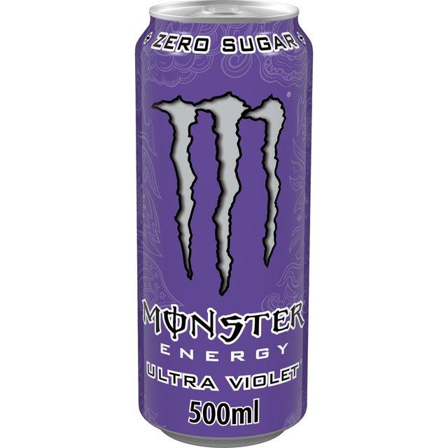 Monster Energy Ultra Violet No Added Sugar 500ml from Ocado