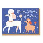Ohh Deer Mum You're Fabulous Mothers Day Card