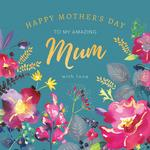 Watercolour Blooms Mothers Day Card