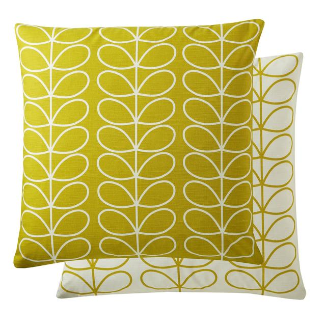 Orla Kiely Small Linear Stem Cushion Sunflower Large