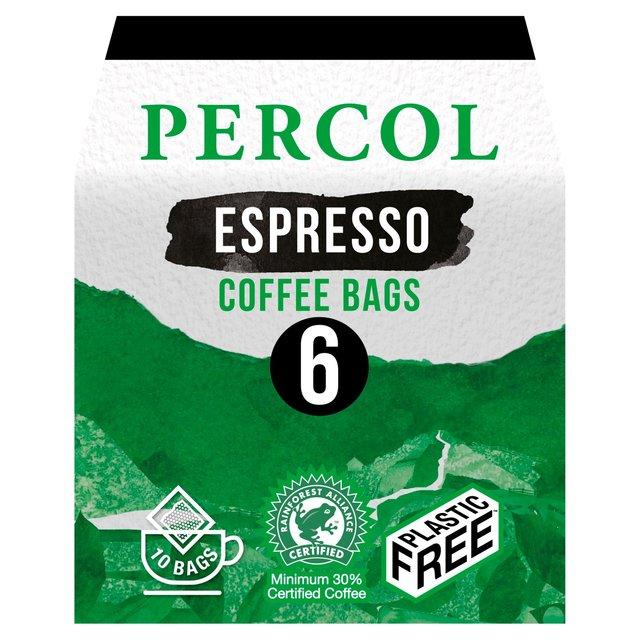 Percol Intense Espresso Coffee Bags Ocado