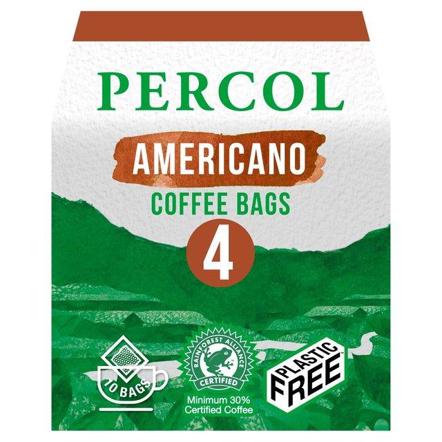 Percol Rainforest Alliance All Day Americano Coffee Bags