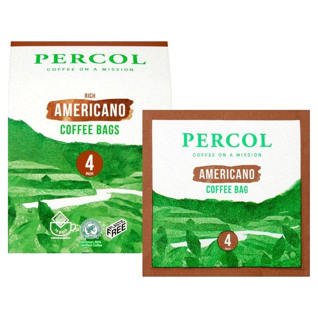 Percol Rainforest Alliance All Day Americano Coffee Bags Ocado