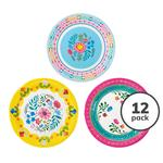 Talking Tables Boho Paper Plates, 23cm