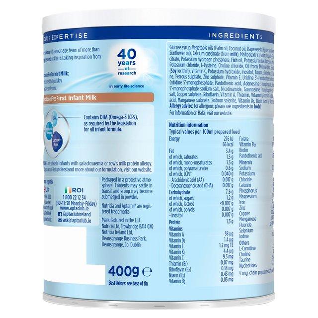 Aptamil Lactose Free Baby Milk Formula From Birth Ocado