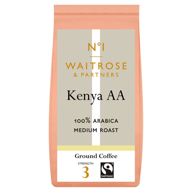 waitrose 1 kenya aa coffee beans 227g from ocado. Black Bedroom Furniture Sets. Home Design Ideas