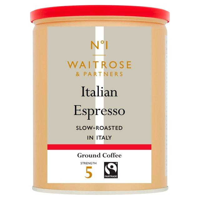 Waitrose Espresso Roasted Ground Coffee Ocado
