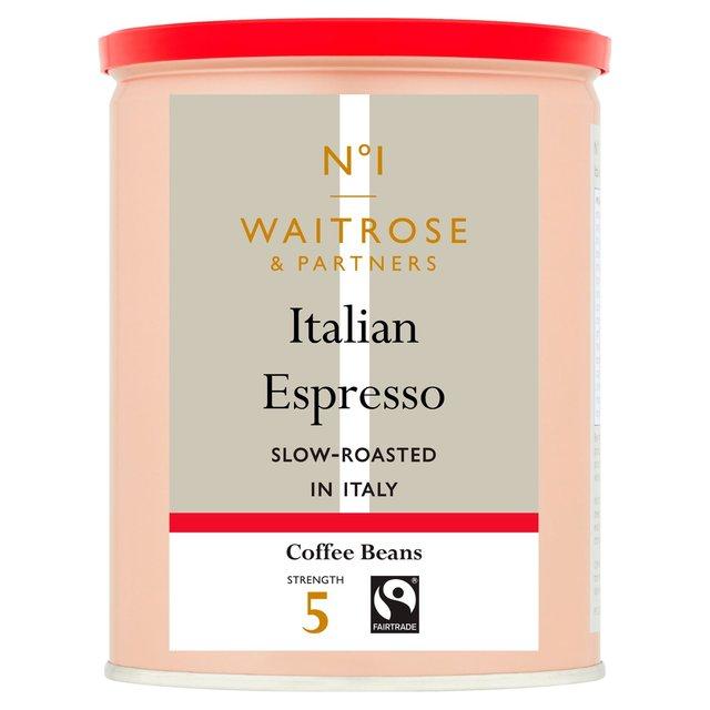 waitrose espresso roasted coffee beans 250g from ocado. Black Bedroom Furniture Sets. Home Design Ideas