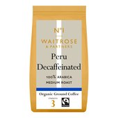 Waitrose 1 Organic Peru Decaff Ground Coffee