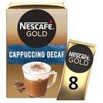 Nescafe Gold Decaffeinated Cappuccino Coffee 8 Sachets
