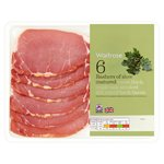 Waitrose 6 Extra Thick, Triple Oak Smoked Dry Cured Back Bacon