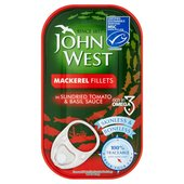 John West Mackerel Fillets in Sundried Tomato & Basil Sauce