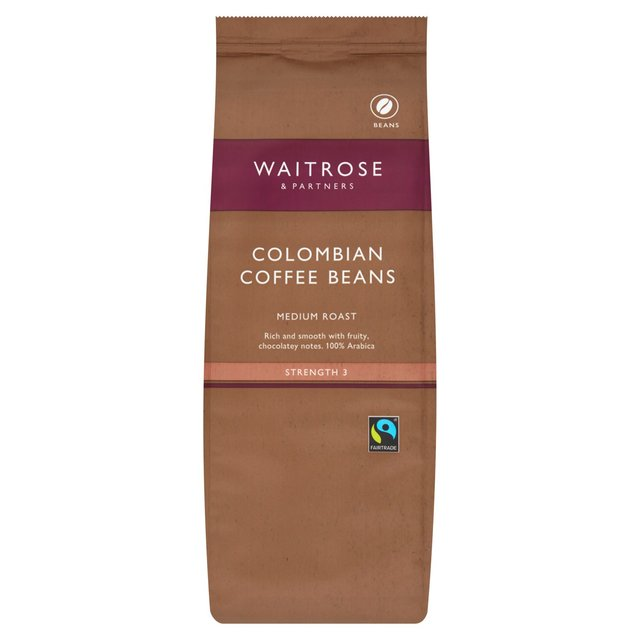 waitrose colombian coffee beans 454g from ocado. Black Bedroom Furniture Sets. Home Design Ideas