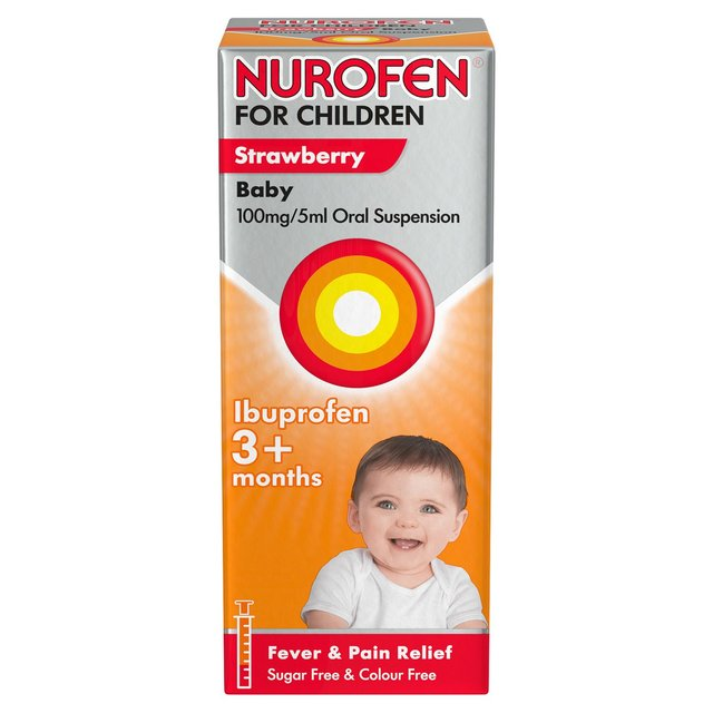 Nurofen for Children Baby Strawberry Sugar & Colour Free Liquid