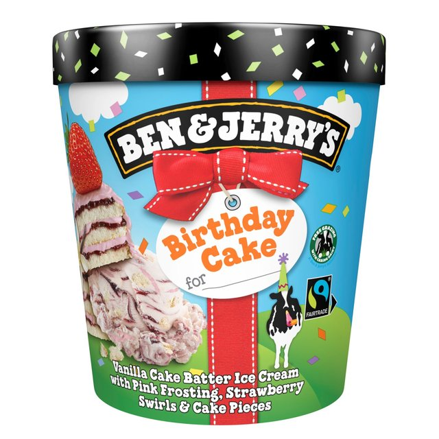 ben jerry s birthday cake ice cream 500ml from ocado